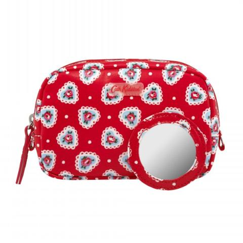 CLASSIC BOX MAKE UP BAG LACE HEARTS