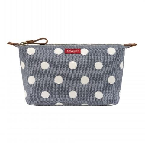 BEAUTY POUCH BUTTON SPOT TWILL
