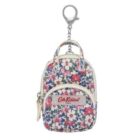 BACKPACK KEY CHARM O/C MEADOWFIELD DITSY PARCHMENT