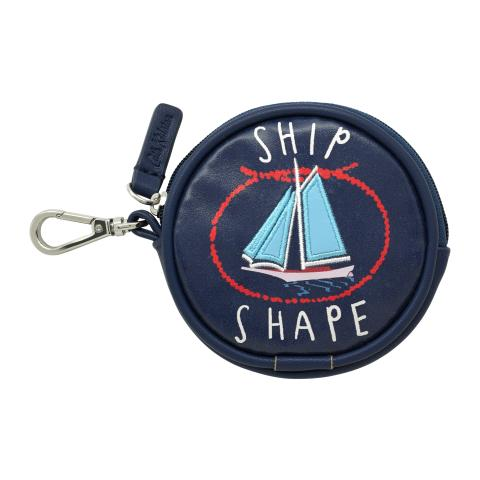 CIRCLE BOAT PURSE FOLDAWAY BAG CHARM WHITBY WATERS NAVY