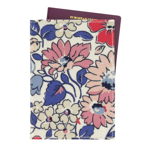 PASSPORT HOLDER O/C LARGE WELHAM FLOWERS STONE MULTI