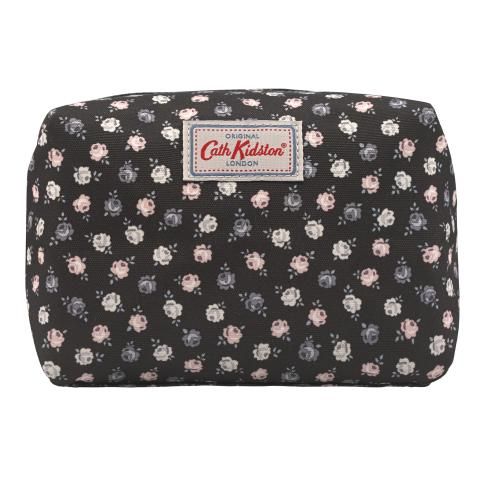 TRAVEL COSMETIC BAG LUCKY ROSE CHARCOAL