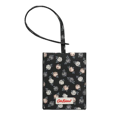 SLIP DOWN LUGGAGE TAG LUCKY ROSE CHARCOAL