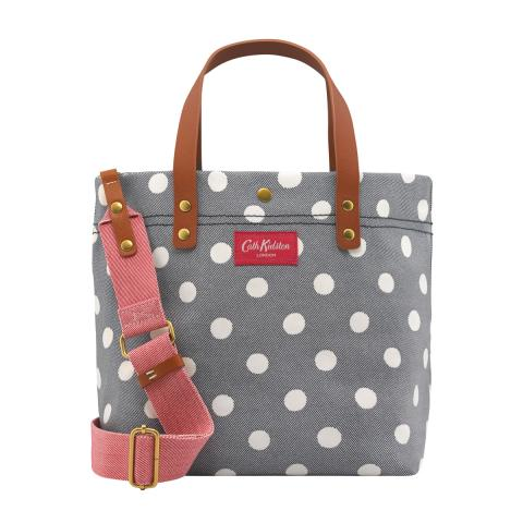 SMALL TOTE BUTTON SPOT TWILL