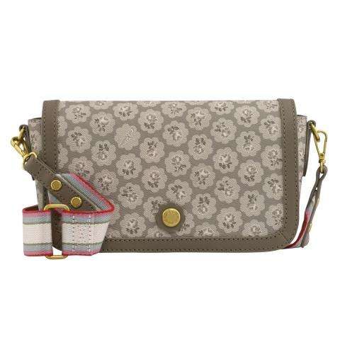 Frestonia Taupe The Flap Cross Body