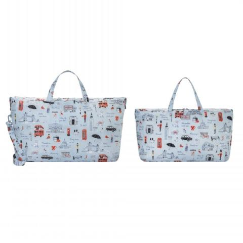 FOLDAWAY TRAVEL BAGS LONDON ICONS