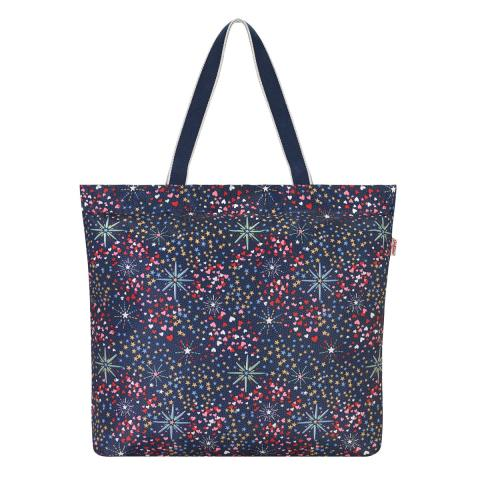MIDNIGHT STARS LARGE FOLDAWAY TOTE