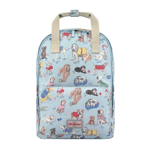 FRONT POCKET BACKPACK MINIGHT STARS PALE BLUE
