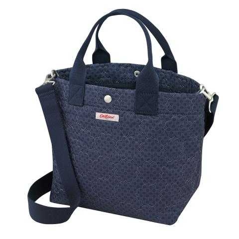 S TOTE FRESTON ROSE QUILT NAVY