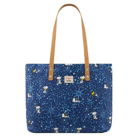 L Tote Snoopy Midnight Stars