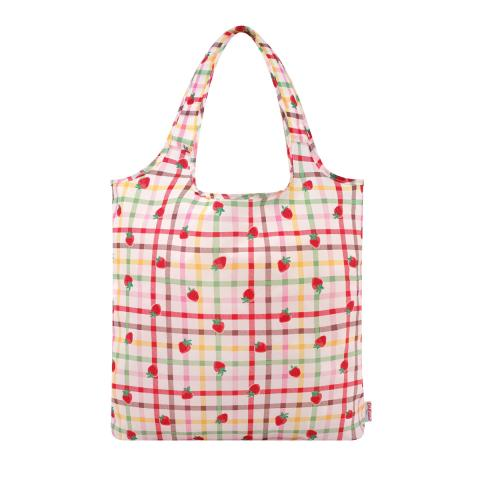 FOLDAWAY SHOPPER STRAWBERRY GINGHAM