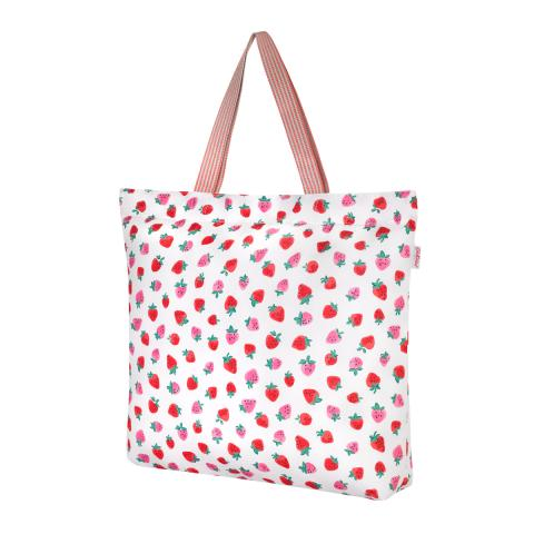L FOLDAWAY TOTE SWEET STRAWBERRY