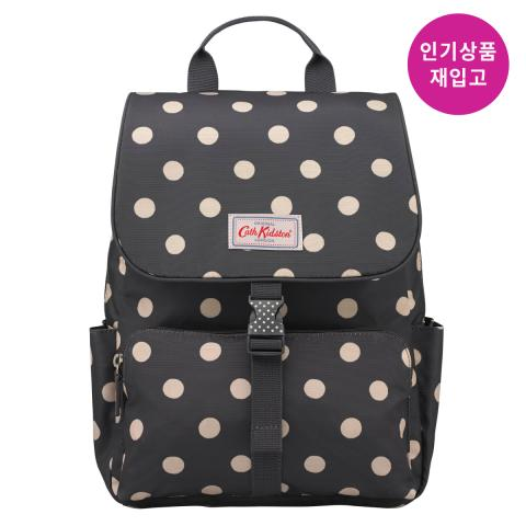 BUCKLE BACKPACK BUTTON SPOT CHARCOAL