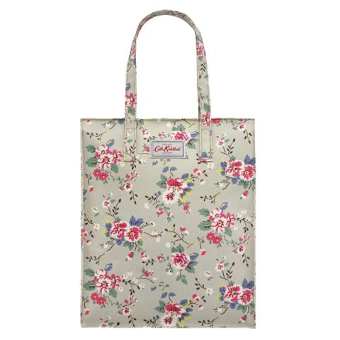 TALL ZIPPED SHOPPER TRAILING ROSE BEIGE