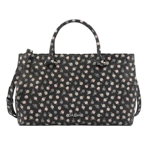 THE THISTLETON SMALL TOTE LUCKY ROSE CHARCOAL