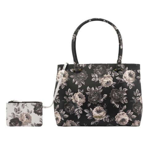 THE THISTLETON LARGE TOTE OAKWORTH BLOOM DARK CHARCOAL