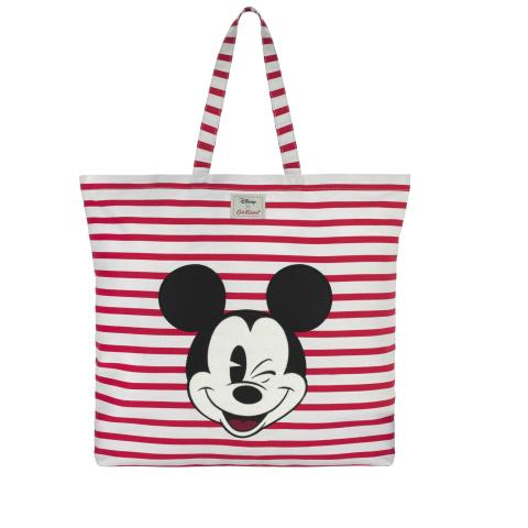 Disney Cotton Applique Tote Breton Stripe Red