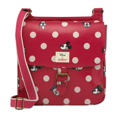 Tab Saddle Bag - DISNEY Mickey & Friends Button Spot Red