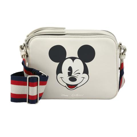 Disney Leather Lozenge Bag Mickey Head Placement Stone