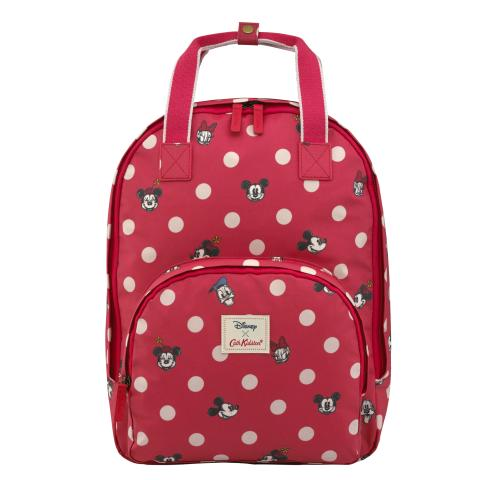 Multi Pocket Backpack - DISNEY Mickey & Friends Button Spot Red