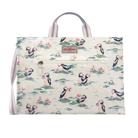 STRAPPY CARRYALL PUFFINS STONE