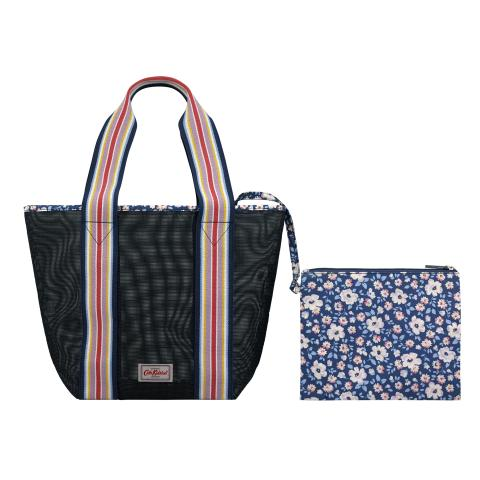 MESH TOTE SOLID NAVY
