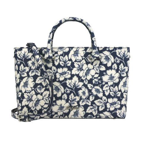 THE THISTLETON SMALL TOTE DIDWORTH FLOWERS NAVY