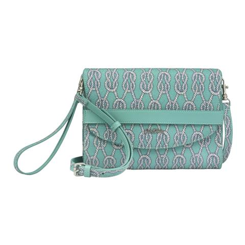 BAND OCCASION CLUTCH SAILORS KNOT JADE GREEN