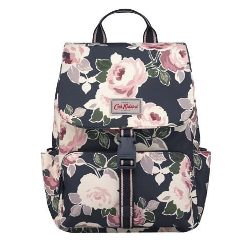 BUCKLE BACKPACK PAPER ROSE GRAPHITE GREY