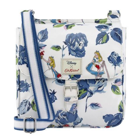 PAINTING THE ROSES LIGHT CREAM DISNEY TAB SADDLE BAG