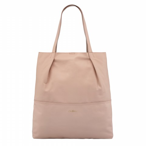 LEATHER TOTE SOFT PINK