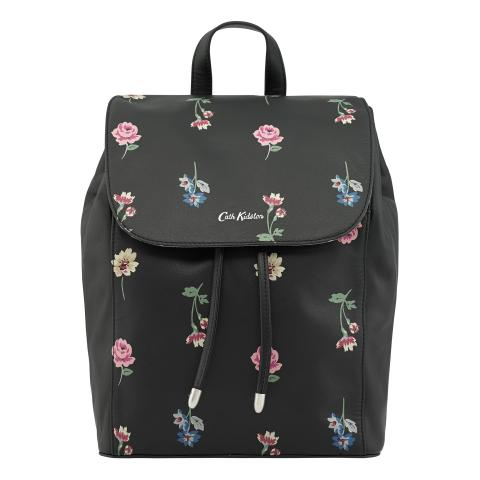 LEATHER THE SAXHAM BACKPACK LULWORTH FLOWERS CHARCOAL