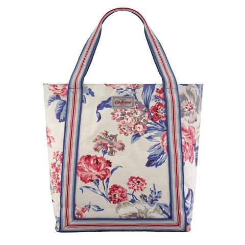 REVERSE COATED TOTE PORCHESTER ROSE STONE MULTI