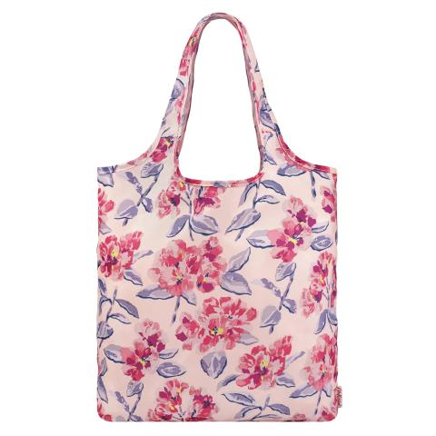 FOLDAWAY SHOPPER SPRING BLOOM PLASTER PINK