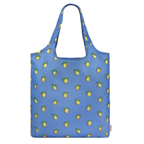 FOLDAWAY SHOPPER LITTLE LEMONS RIVIERA BLUE