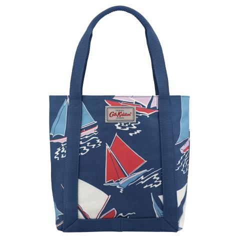 MINI REVERSE COATED TOTE WHITBY WATERS NAVY