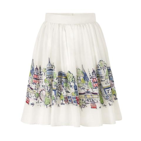 LONDON VIEW GATHERED SKIRT UK10