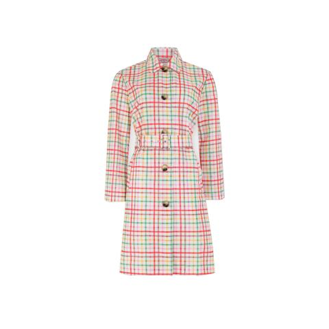 GINGHAM DUSTER COAT