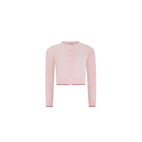BLUSH POINTELLE CARDIGAN