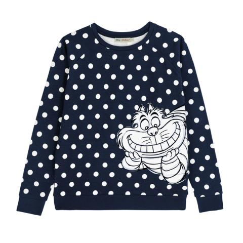 DISNEY PLACEMENT JUMPER #2 DISAPPEARING CHESHIRE CAT PL02 TRUE NAVY M