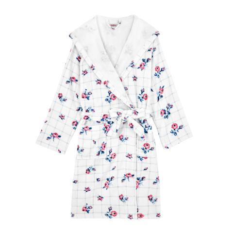 GRID FLORAL TOWELLING ROBE FREE