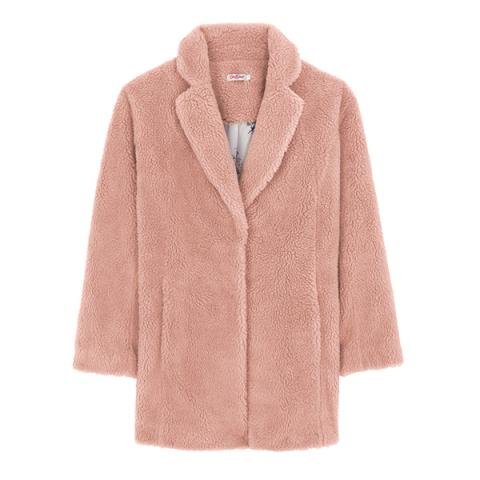 SHEARLING BLUSH COAT