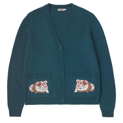 PETS PARTY POCKET CARDIGAN PETS PARTY TEAL XS