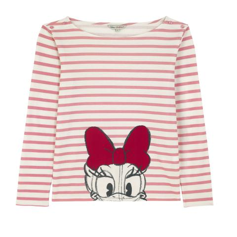 Disney Long Sleeve Tee Mickey & Friends Placement Pink S