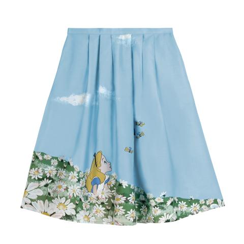 ALICE`S MEADOW PL02 SEA BLUE DISNEY PLACEMENT SKIRT 10