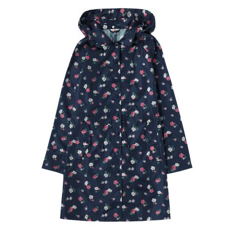 POLYESTER LONG RAINCOAT HAMPSTEAD DITSY NAVY M