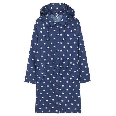 LONG RAINCOAT IN A BAG POM POM SPOT NAVY M