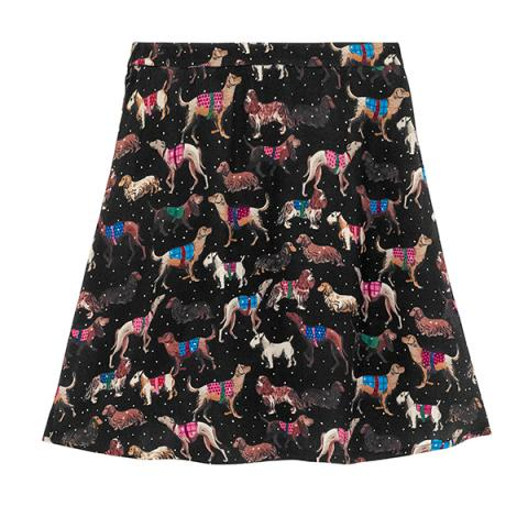 SNOWY SKETCHBOOKS DOGS SKIRT