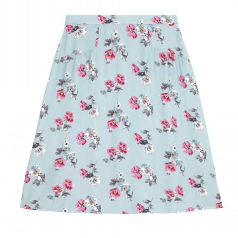 CATS AND FLOWERS SKIRT