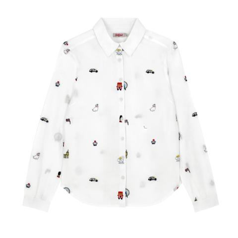 S/LONDON MAP EMBROIDERY SHIRT 12